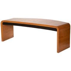 Large Vladimir Kagan Crescent Desk in Oak