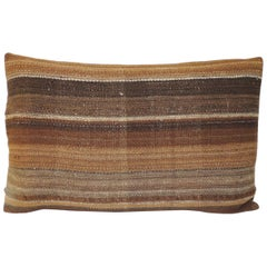 Vintage Saddle Woven Brown Stripe Decorative Pillow