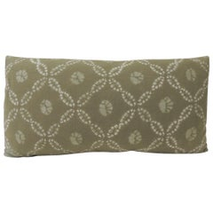 Vintage Green Japanese Shibori Decorative Bolster Pillow