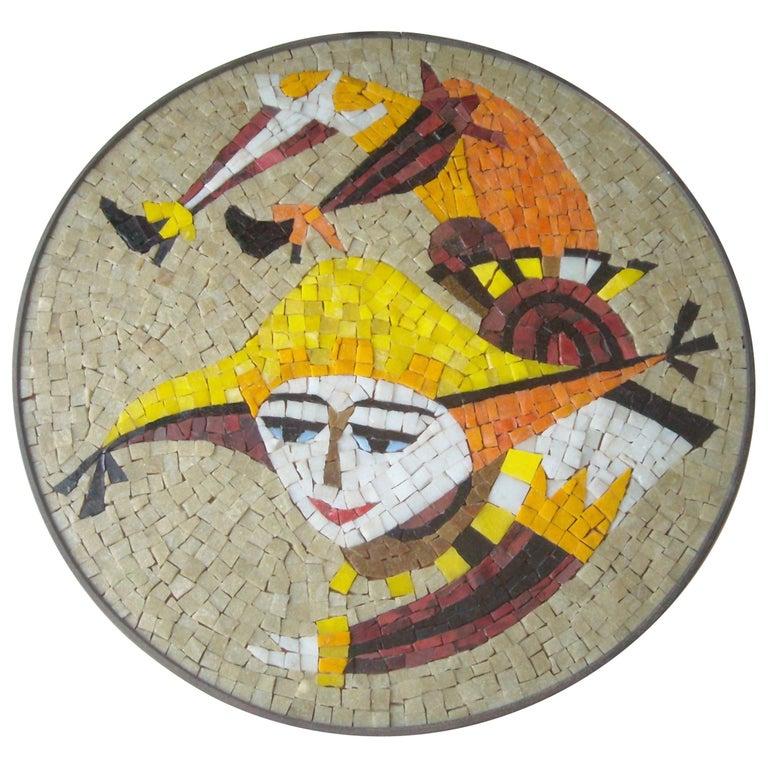 Evelyn & Jerome Ackerman Wall, Mosaic Plaque /Panel, Era Studio For Sale