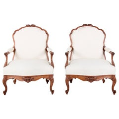 Pair of 19th Century French Armchairs Bergères