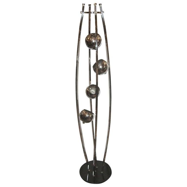 Chrome-Plated Floor Lamp