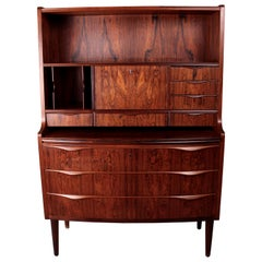Danish Rosewood Secretaire Cabinet Possibly by Erling Torvits, circa 1960