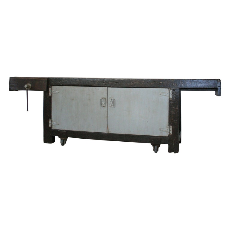 Old Industrial Workbench For Sale