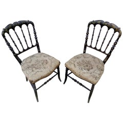 "19th Century Two Hand-Painted ""Chiavari"" Chairs"