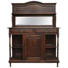 Art Nouveau Oak Credenza