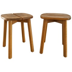 "Pair of ""Coffee Bean"" Stools by Pierre Gautier Delaye, France, 1960s"