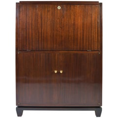 Art Deco Mahogany Bar or Secretaire Cabinet