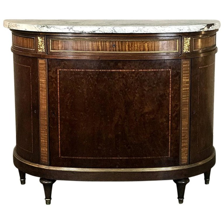 19th Century French Louis XVI, Directoire Marble Top Buffet