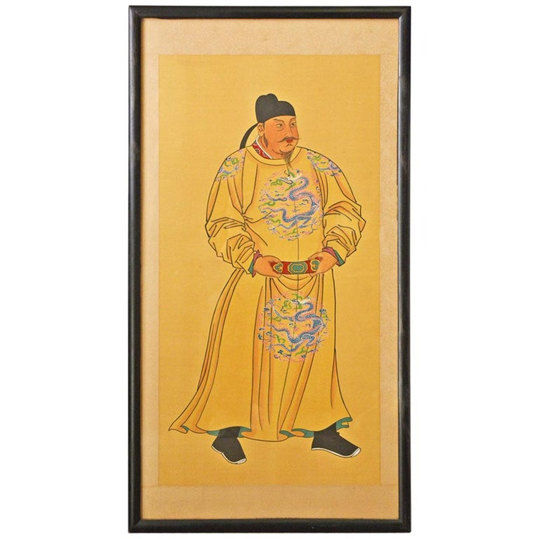 Chinese Ancestor Portrait For Sale