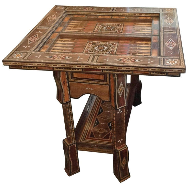 Moroccan Folding Game Table For Sale
