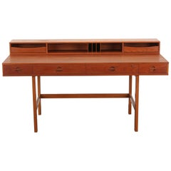 Danish Teak Flip Top Desk by Peter Løvig Nielsen, 1973