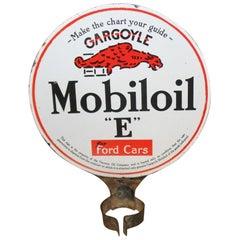 1920s-1930s Mobiloil Gargoyle D.S. Porcelain Lubester Sign