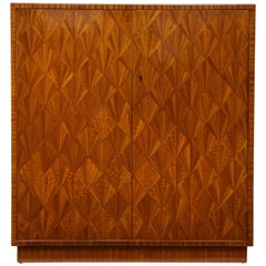 Parquetry Sycamore Cabinet in the Jean-Michel Frank Manner