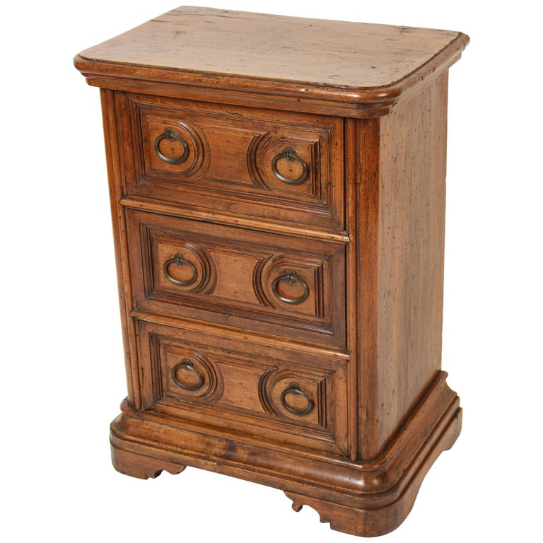 Antique Baroque Style Walnut Chest of Drawers