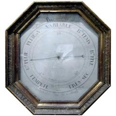 18th Century French Barometer in Giltwood Frame