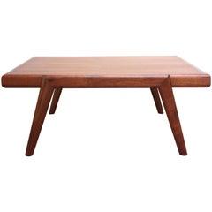 Mid-Century Modern Low Walnut Side Table or Ottoman by Mel Smilow