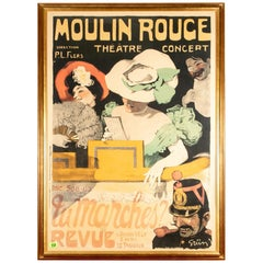 """Jules-Alexandre Grun, Colored Lithograph, """"Moulin Rouge"""""""