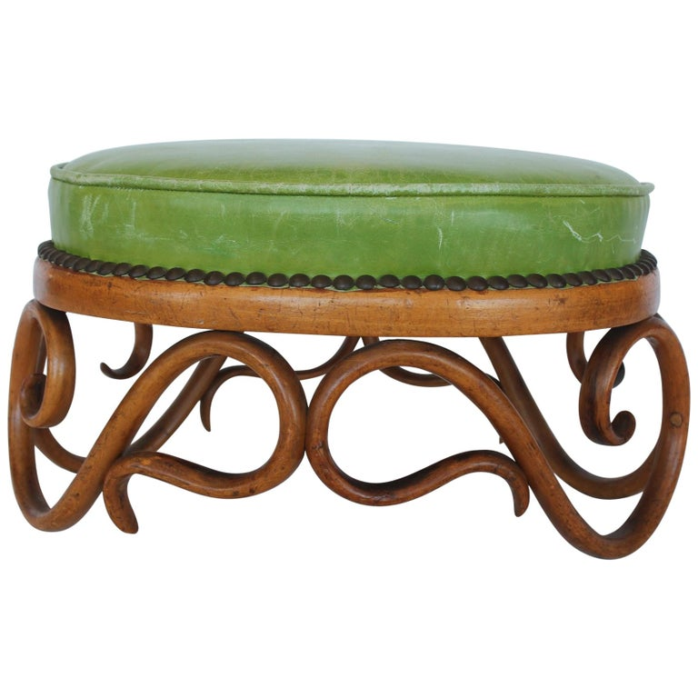 1900s Foot Stool by Thonet, Two Available