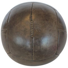 Large Vintage Hand-Stitched Leather Medicine Ball