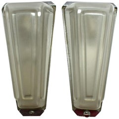 Pair of Art Deco Conical Wall Light Sconces