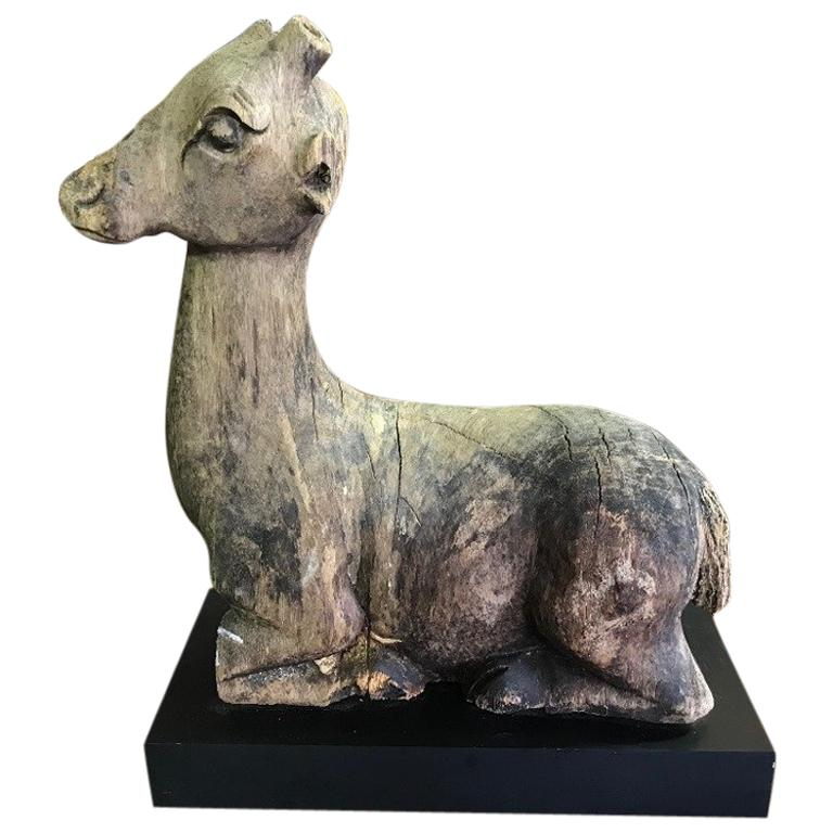 Primitive Carved Wood Animal