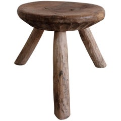 Mesquite Stool from Mexico Early 1990s