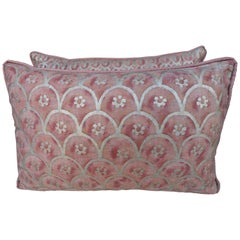 Pair of Blush and Silvery Gold Fortuny Pillows