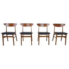 Set of Four Model 210 Dining Chairs from Farstrup Møbler, Denmark, 1960s