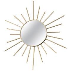 Vintage Brass Sunburst Mirror, 1960s, France