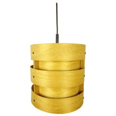 Wooden Pendant Light from Zicoli, Germany, 1970s