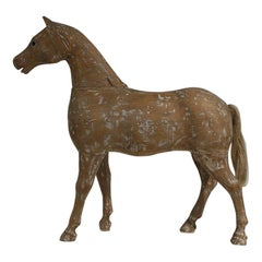 French 19th Century Folk Art Wooden Horse