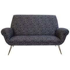 Italian Sofa, New Upholstered