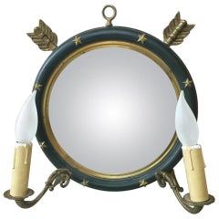 French Empire-Style Mirrored Sconce, circa 1940
