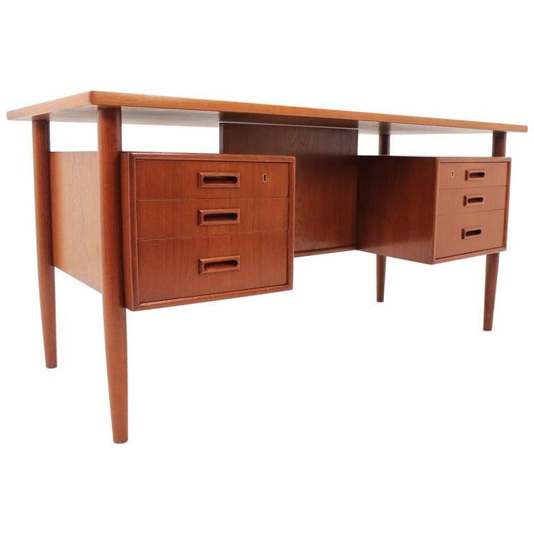 Midcentury desk with bookcase, Arne Vodder, Denmark, 1960s