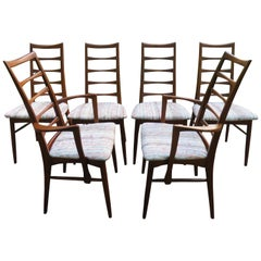 Set of Six Koefoeds Hornslet Teak Dining Chairs Midcentury Danish