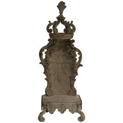 French 18th Century Weathered Oak Baroque Altar