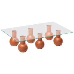 Wheel-Thrown Ballard Cocktail Table Six in Terracotta Customizable Height