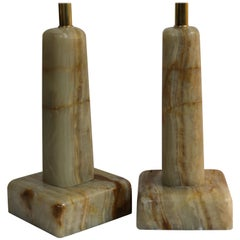Pair of Onyx Lamps