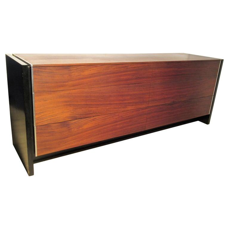 Sleek Modernist Rosewood Dresser Credenza by Glenn of California
