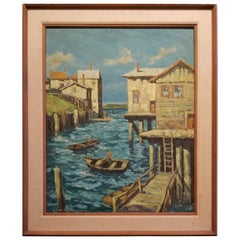 Painting of Cannery Row, Monterey by Fred Korburg