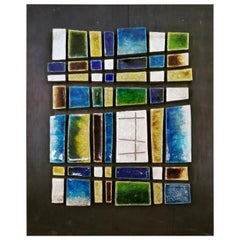 Ceramic Tile Wall Sculpture by Jane Dart