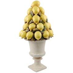 Italian Majolica Lemon Centerpiece