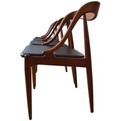 Danish Johannes Andersen Teak Dining Chairs, 1960s