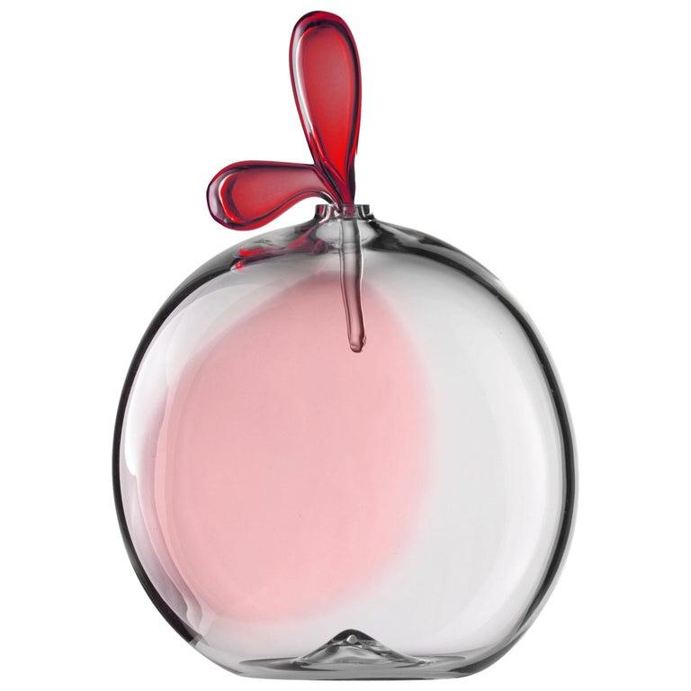 Salviati Small Zefiro Glass Vessel in Ruby by Luciano Gaspari