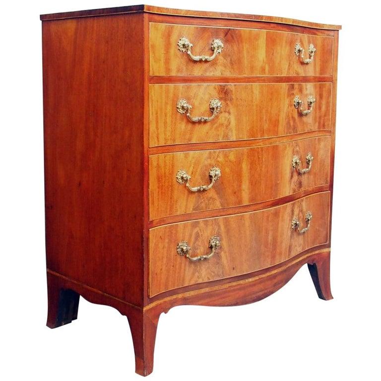 Hepplewhite Style Inlaid Mahogany Chest of Drawers