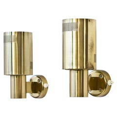 Brass Wall Lamps from Sweden, 1960s, Set of Two