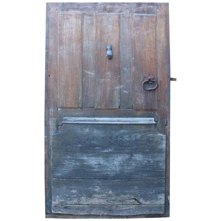 18th Century French Oak Exterior Door