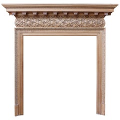 Edwardian Carved Satin Wood Fireplace