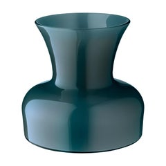 Salviati Large Lily Profili Vase in Peacock Green by Anna Gili